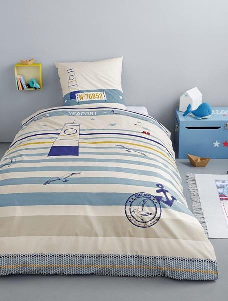 Meubles & Linge de lit-Linge de lit Enfant-Parures de lit enfant-Parure Fourre de duvet + taie d'oreiller Port en vue
