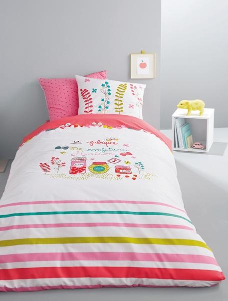 Meubles & Linge de lit-Linge de lit Enfant-Parures de lit enfant-Parure Fourre de duvet + taie d'oreiller Confiture