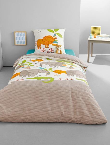 Meubles & Linge de lit-Linge de lit Enfant-Parures de lit enfant-Parure Fourre de duvet + taie d'oreiller Animoland