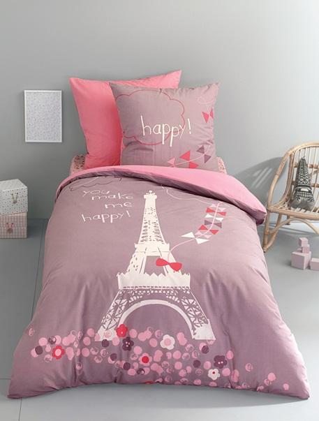 Meubles & Linge de lit-Linge de lit Enfant-Parures de lit enfant-Parure Fourre de duvet + taie d'oreiller Une nuit a Paris