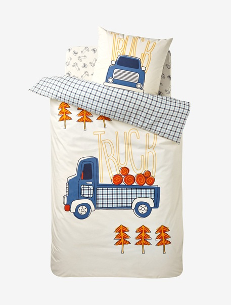 Meubles & Linge de lit-Linge de lit Enfant-Parures de lit enfant-Parure Fourre de duvet + taie d'oreiller Ceur de trappeur