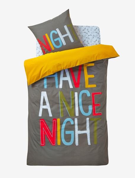 Meubles & Linge de lit-Linge de lit Enfant-Parures de lit enfant-Parure Fourre de duvet + taie d'oreiller Bonne nuit
