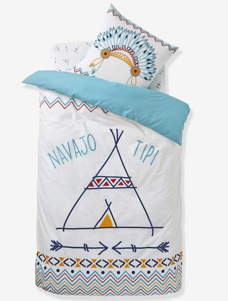Meubles & Linge de lit-Linge de lit Enfant-Parures de lit enfant-Parure Fourre de duvet + taie d'oreiller P'tit indien