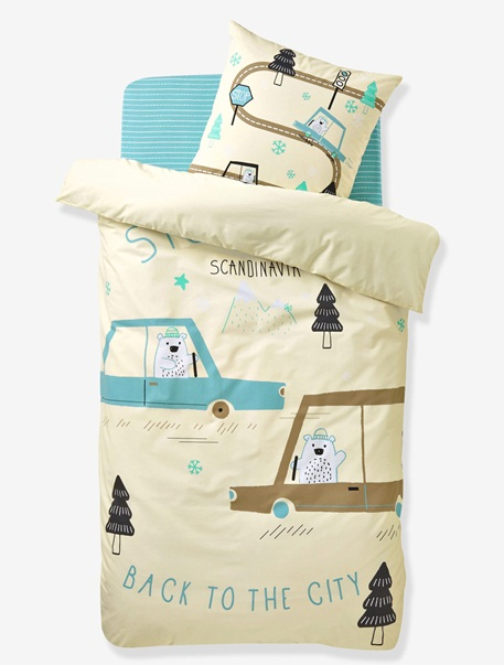 Meubles & Linge de lit-Linge de lit Enfant-Parures de lit enfant-Parure Fourre de duvet + taie d'oreiller Stockholm