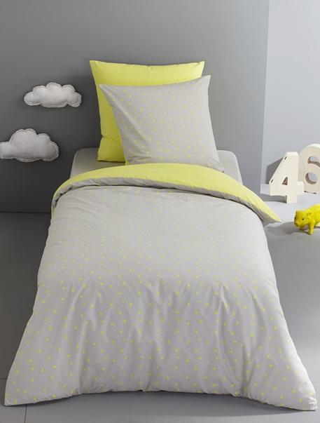 Meubles & Linge de lit-Linge de lit Enfant-Parures de lit enfant-Parure Fourre de duvet + taie d'oreiller imprime etoiles