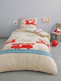 Chambre et Linge de lit-Textile-Linge de lit Enfant-Parures de lit Enfant-Parure Fourre de duvet + taie d'oreiller Pompiville