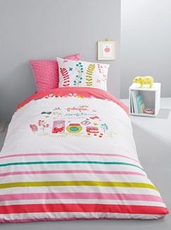 Chambre et Linge de lit-Textile-Linge de lit Enfant-Parures de lit Enfant-Parure Fourre de duvet + taie d'oreiller Confiture