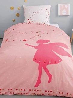 Chambre et Linge de lit-Textile-Linge de lit Enfant-Parures de lit Enfant-Parure Fourre de duvet + taie d'oreiller Petite fee