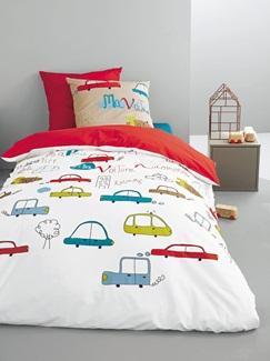 Chambre et Linge de lit-Textile-Linge de lit Enfant-Parures de lit Enfant-Parure Fourre de duvet + taie d'oreiller Dreles de bolides