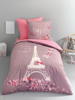 Chambre et Linge de lit-Textile-Linge de lit Enfant-Parures de lit Enfant-Parure Fourre de duvet + taie d'oreiller Une nuit a Paris