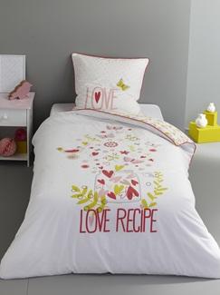 Chambre et Linge de lit-Textile-Linge de lit Enfant-Parures de lit Enfant-Parure Fourre de duvet + taie d'oreiller Miss Butterfly