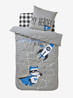 Chambre et Linge de lit-Textile-Linge de lit Enfant-Parures de lit Enfant-Parure Fourre de duvet + taie d'oreiller Galactic heroes