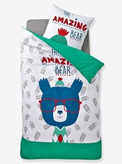 Chambre et Linge de lit-Textile-Linge de lit Enfant-Parures de lit Enfant-Parure Fourre de duvet + taie d'oreiller Amazing bear