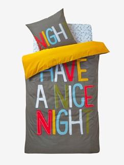Chambre et Linge de lit-Textile-Linge de lit Enfant-Parures de lit Enfant-Parure Fourre de duvet + taie d'oreiller Bonne nuit