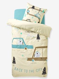 Chambre et Linge de lit-Textile-Linge de lit Enfant-Parures de lit Enfant-Parure Fourre de duvet + taie d'oreiller Stockholm