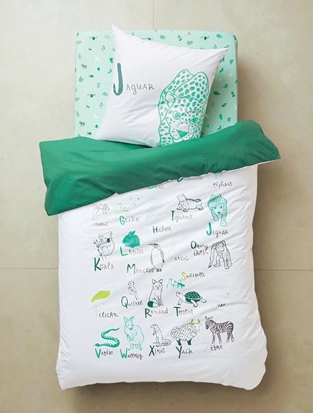Meubles & Linge de lit-Linge de lit Enfant-Parures de lit enfant-Parure de lit enfant Abecedaire