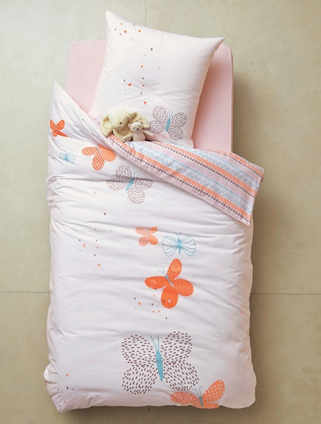 Meubles & Linge de lit-Linge de lit Enfant-Parures de lit enfant-Parure de lit enfant Papillon