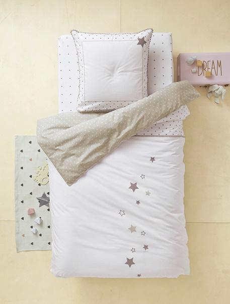 Meubles & Linge de lit-Linge de lit Enfant-Parures de lit enfant-Parure de lit enfant Pluie d'etoiles