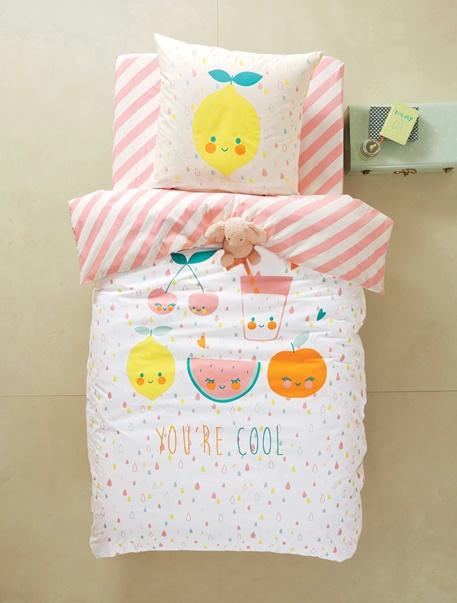 Meubles & Linge de lit-Linge de lit Enfant-Parures de lit enfant-Parure de lit enfant Cocktail fruite