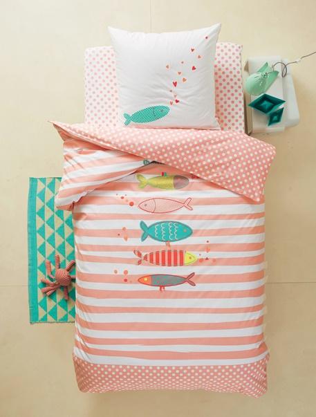 Meubles & Linge de lit-Linge de lit Enfant-Parures de lit enfant-Parure de lit enfant Fish & Kiss