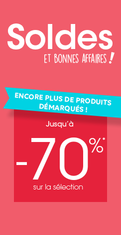 Soldes jusqu'à -70%