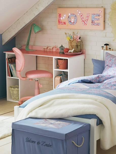 schreibtischstuhl f r kinder rosa blumen m bel bettw sche. Black Bedroom Furniture Sets. Home Design Ideas
