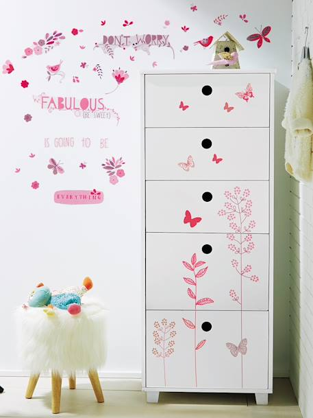 sticker f r kinderzimmer rosa deko aufbewahren. Black Bedroom Furniture Sets. Home Design Ideas