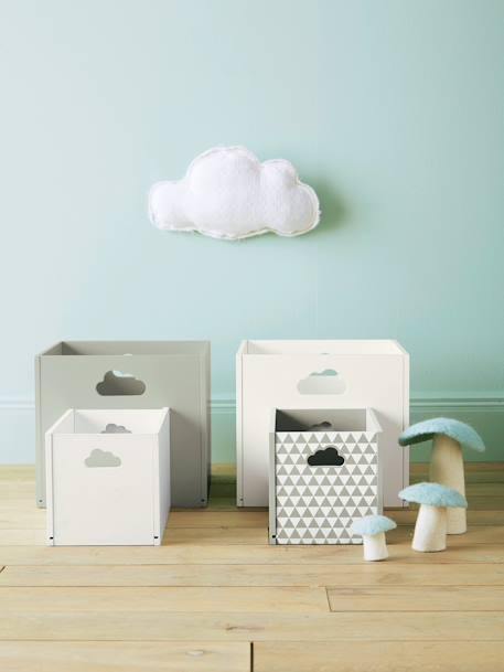Holz Aufbewahrungsbox Mit Wolken Griffen Deko Aufbewahren