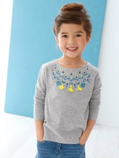 Tee-shirts & Blouses-T-shirt fille brodé
