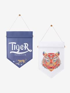 Décoration murale-Lot de 2 fanions Tigre