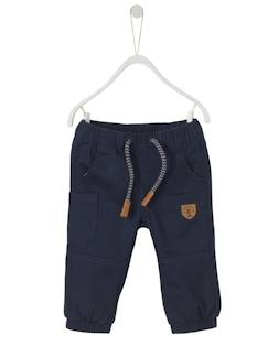 Baby-Hose, Jeans-Thermohose mit Fischgratmuster, Baby Jungen