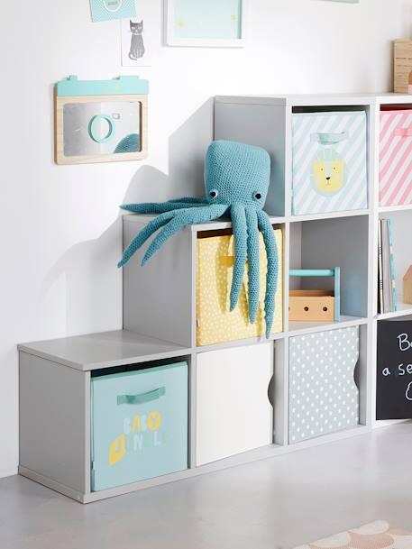 kinder stufenregal mit 6 f chern grau deko aufbewahren. Black Bedroom Furniture Sets. Home Design Ideas