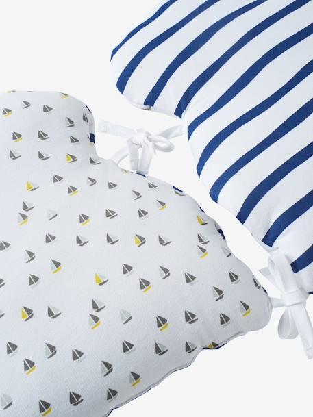 kissen zur bettumrandung marin plaisir blau grau weiss. Black Bedroom Furniture Sets. Home Design Ideas