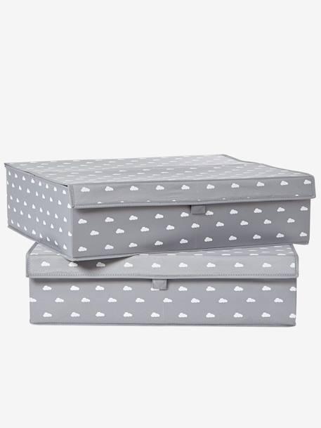 flache aufbewahrungsbox mit deckel grau m bel bettw sche. Black Bedroom Furniture Sets. Home Design Ideas