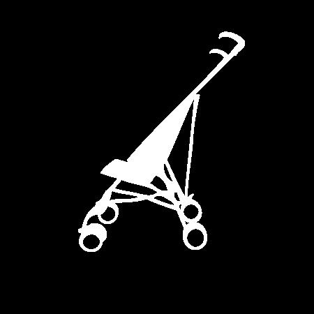 Pictogramme poussette Canne