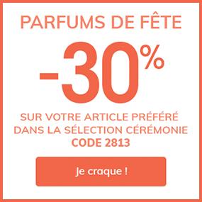 Parfums de fête -30% sur votre article préféré dans la Sélection Cérémonie*