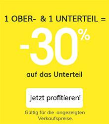 1 ober- & 1 Unterteil = -30%