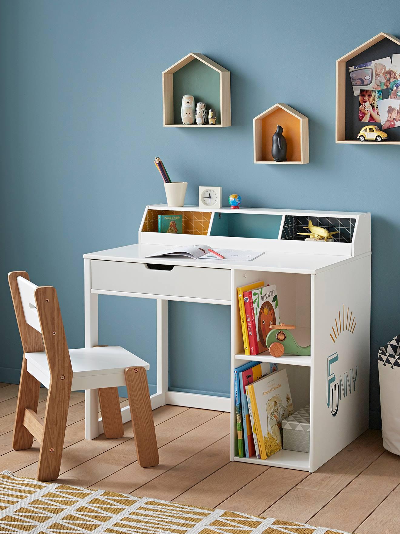 """Bureau Enfant 2 Ans bureau pour les petites de 2-5 ans """"funny"""" - bleu, chambre et rangement"""