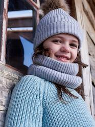 Ensemble fille bonnet + snood + moufles/gants