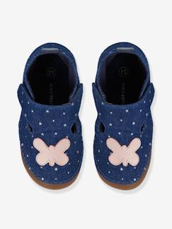 Chaussures-Chaussures bébé 16-26-Chaussons-Chaussons toile fille
