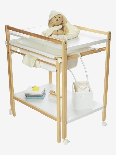 a7fb0fbd35df5 Table à langer avec baignoire intégrée MagicTub VERTBAUDET  BLANC+Naturel blanc