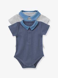 Sélection denim 2018-Bébé-Lot de 2 bodies bébé col polo