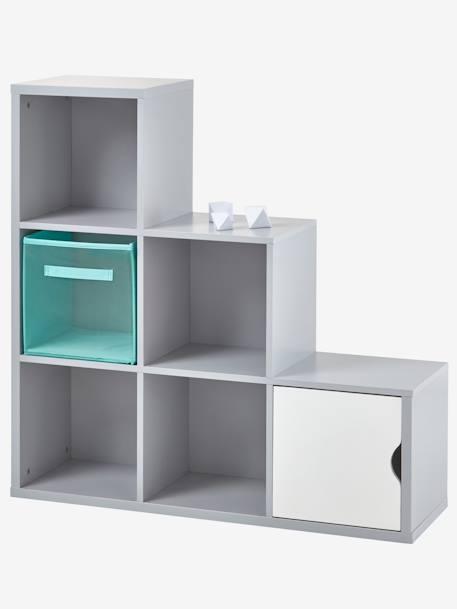 kinder stufenregal mit 6 f chern deko aufbewahren. Black Bedroom Furniture Sets. Home Design Ideas