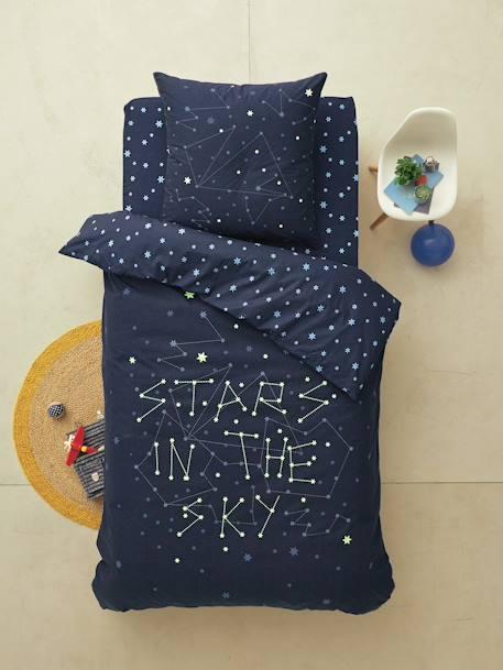 Drap housse enfant stars in the sky meubles et linge de lit for Drap housse vertbaudet