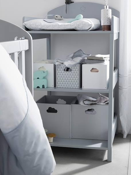 boites de rangement en bois peint blanc chambre et. Black Bedroom Furniture Sets. Home Design Ideas