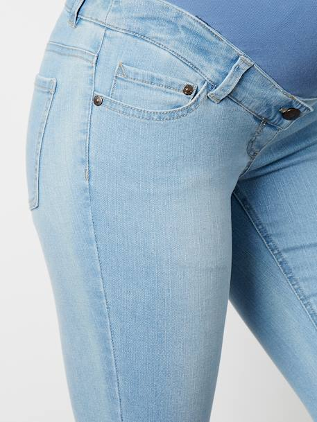 Jean slim stretch de grossesse entrejambe 85 Denim brut+DENIM GRIS CLAIR+Denim noir+Denim stone+DOUBLE STONE