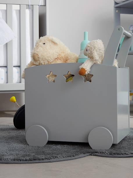 fahrbare spielzeugkiste mit sternen deko aufbewahren. Black Bedroom Furniture Sets. Home Design Ideas