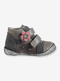 Hiver-Chaussures-Bottines scratchées fille cuir