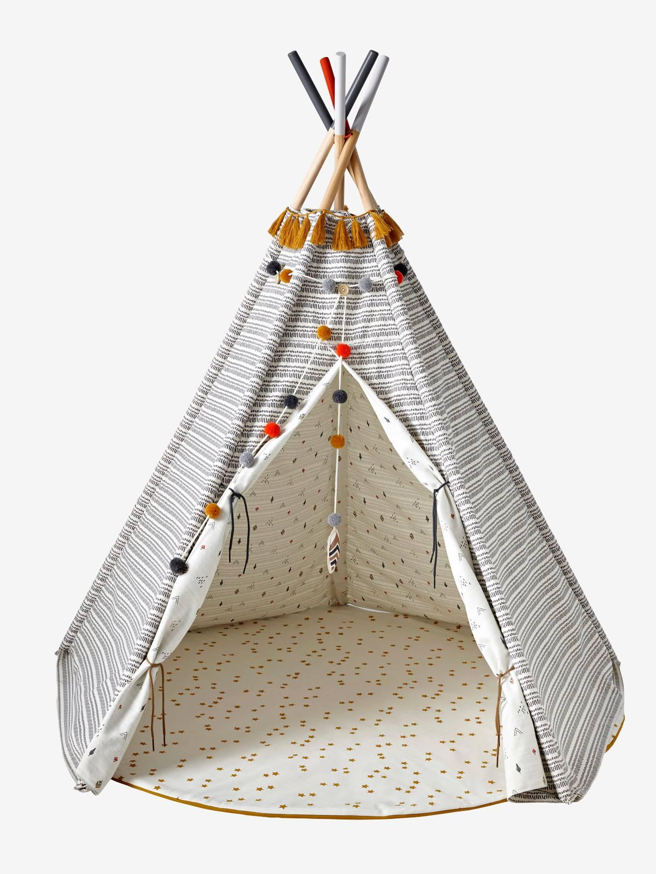 Runder Teppich Fur Indianer Tipi Grau Bedruckt Deko Aufbewahren