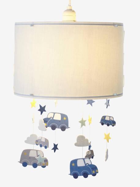 h nge lampenschirm f r kinderzimmer autos deko aufbewahren. Black Bedroom Furniture Sets. Home Design Ideas